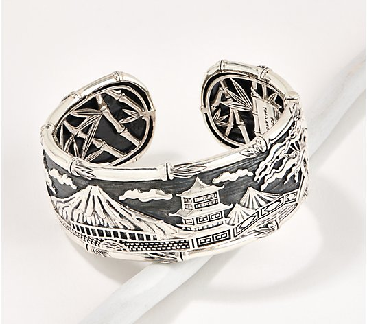 JAI Sterling Silver Japan Captured Moment Cuff, 78.0-86.0g