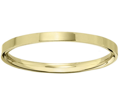 Men's 14K Yellow Gold 2.5mm Flat Comfort Fit Wedding Band