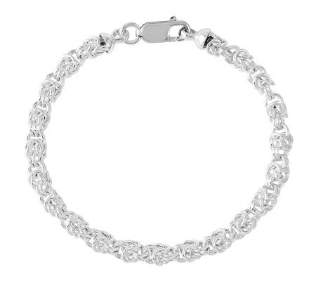 "Sterling 7-1/2"" Polished Knot Link Bracelet"