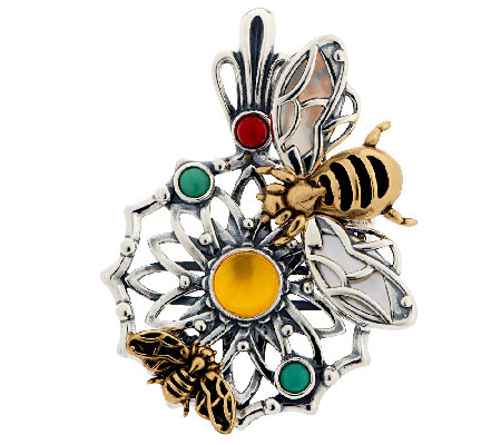 Fritz Casuse Sterling/Brass Gemstone Bumblebee Enhancer