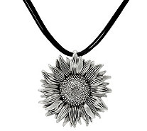 Or Paz Sterling Silver Sunflower Multi-Cord Necklace - J331522