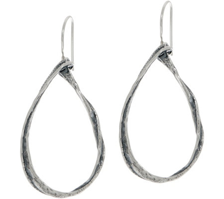 Or Paz Sterling Silver Pear Shaped Drop Earrings