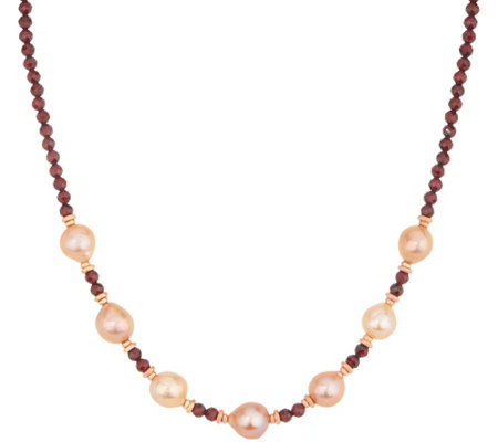 Honora Ming Pearl Gemstone 18 Necklace Sterling