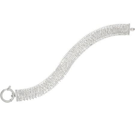 Imperial Silver 8 Diamond Cut Bar Wheat Bracelet Sterling 20 2g