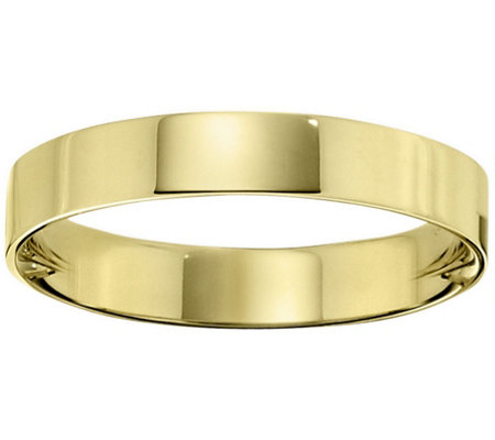 Men's 18K Yellow Gold 4mm Flat Wedding Band