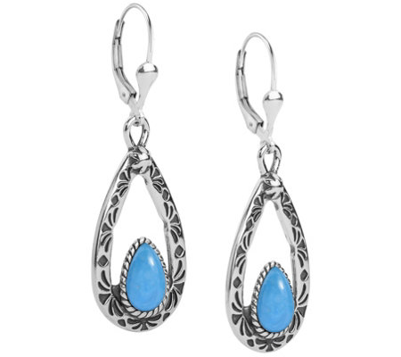 American West Gemstone Teardrop Dangle Earrings