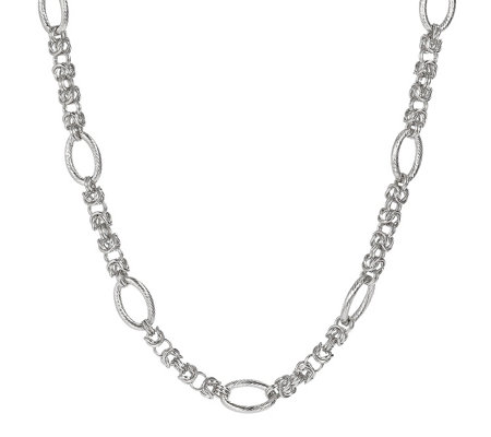 "Steel By Design 18"" Byzantine Oval Link Station Necklace"
