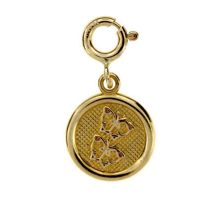 14K Yellow Gold Friendship Circle Charm