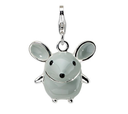 Amore La Vita Sterling Dimensional Gray Mousecharm