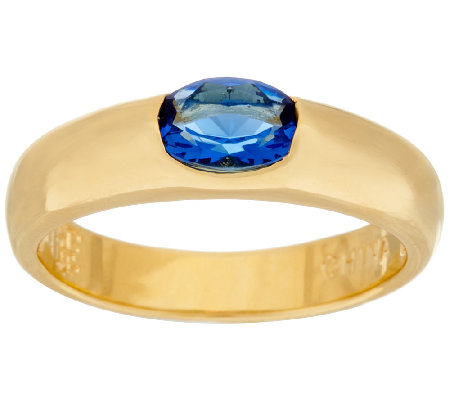 The Elizabeth Taylor Simulated Sapphire Stack Gem Ring