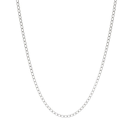 "American West Sterling Silver 36"" Curb Link 12.25g Necklace"