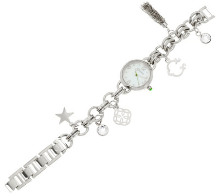 C. Wonder Mother of Pearl Charm Bracelet Watch