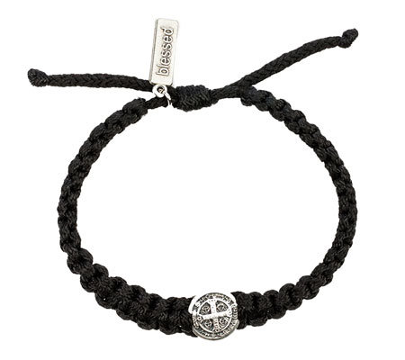 My Saint My Hero Men's Silvertone ONE Blessin gBracelet