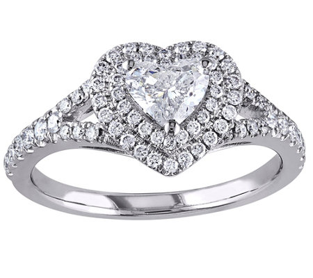 Affinity 9 10 Cttw Heart Diamond Ring 14k White Gold