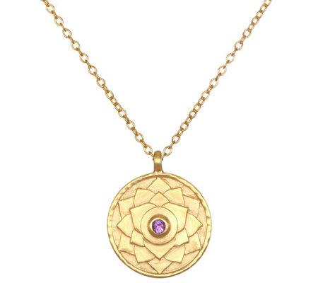 "Satya 18K Plated 36"" Gemstone Chakra Necklace"