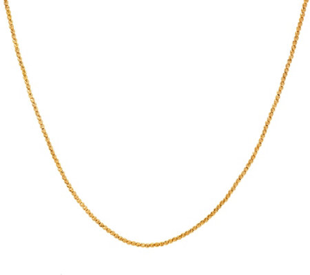 """As Is"" Italian Gold 18"" Diamond Cut Bead Necklace, 14K, 6.0g"