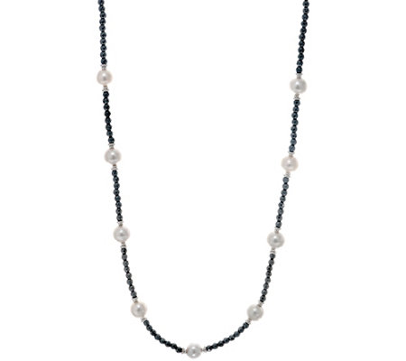 "Honora Ming Pearl & Gemstone 36"" Necklace Sterling"