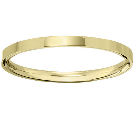 Women's 14K Yellow Gold 2.5mm Flat Comfort FitWedding Band