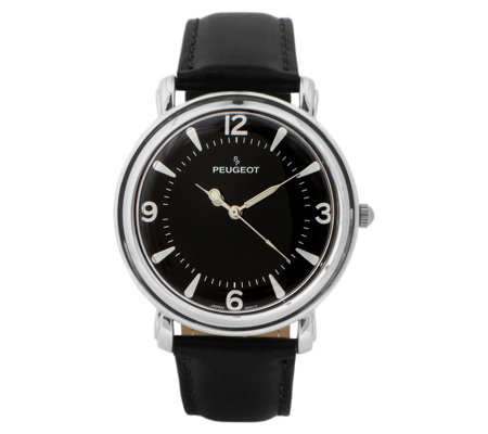 Peugeot Men's Stainless Steel Domed Vintage Watch