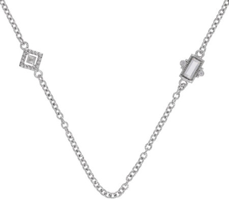 Judith Ripka Sterling Diamonique 18 Station Necklace