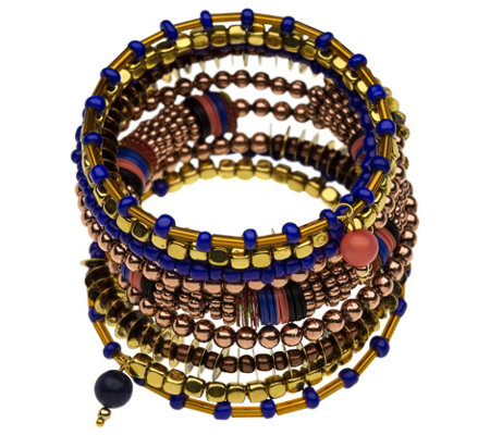 Linea by Louis Dell'Olio Maasai Beaded Wrap Bracelet