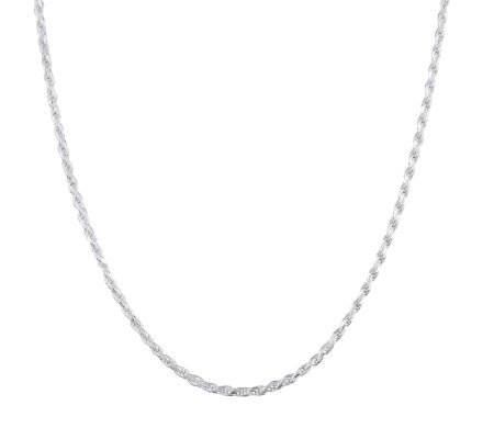 "UltraFine Silver 20"" Rope Chain, 13.5g"
