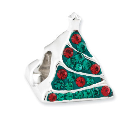 Prerogatives Sterling Crystal Christmas Tree Bead