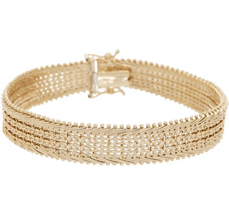"Imperial Gold 7-1/4"" Wide Starlight Bracelet, 14K Gold, 23.0g"