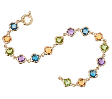 "14K Gold and Gemstone 8"" Bracelet, 13.35 cttw"
