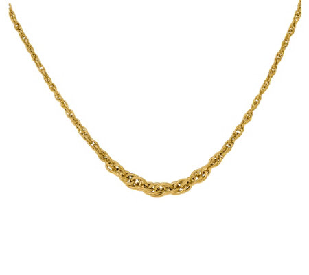 "Italian Gold 18"" Graduated Singapore Necklace,14K"