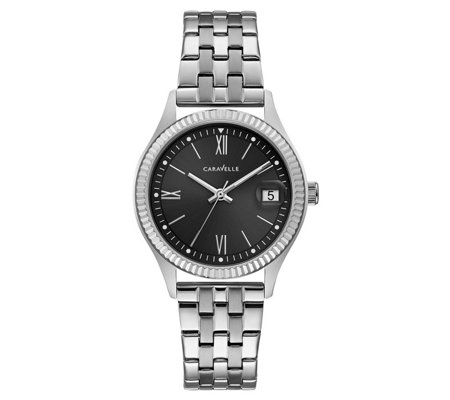 Caravelle Women's Stainless Textured Bracelet Watch