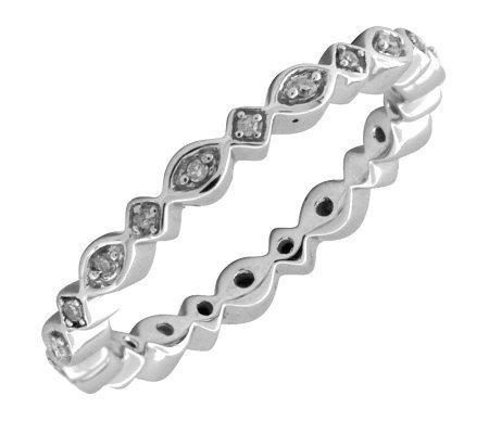 Simply Stacks Sterling & Diamond 2.25mmEternityRing