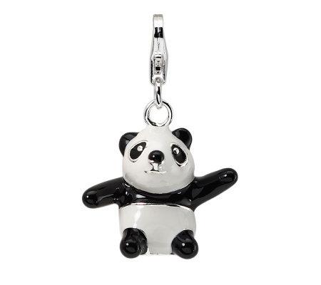 Amore La Vita Sterling Dimensional Panda Charm