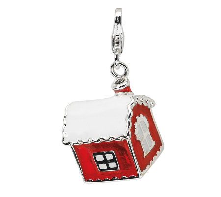 Amore La Vita Sterling Dimensional House withSnow Charm