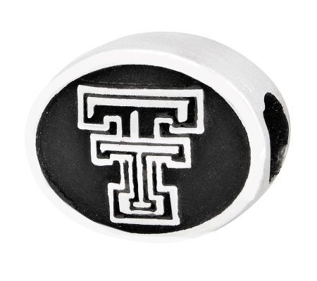 Sterling Silver Texas Tech University Bead