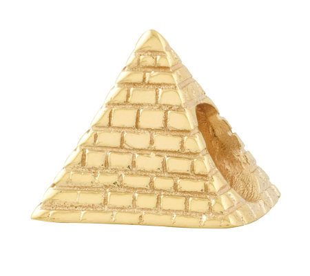 Prerogatives 14K Yellow Gold-Plated Sterling Pyramid Bead