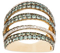 Alexandrite & Diamond Multi-Row Bold Ring 14K, 3.00 cttw - J331525