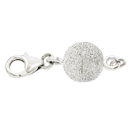 Sterling Glitter Ball Magnetic Clasp