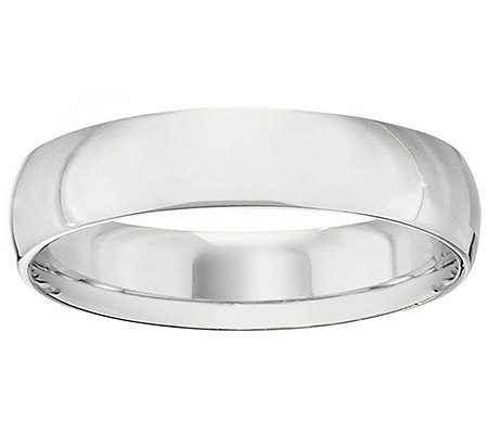 Platinum 5mm High Polish Comfort Fit Wedding Band Ring