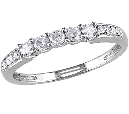 Affinity 1/3 cttw Diamond Wedding Band, 14K White Gold