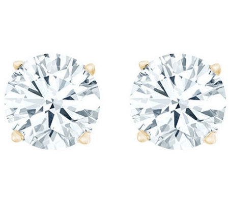 Round Diamond Stud Earrings, 14K Yellow, 1 cttw,by Affinity