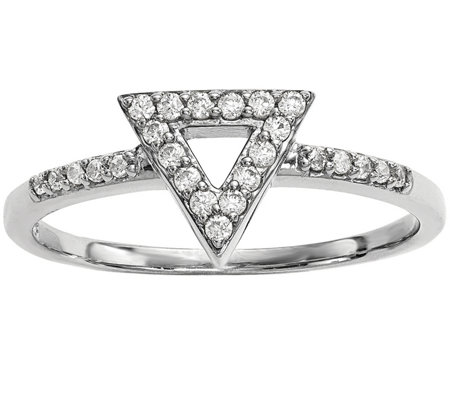 Dainty Designs 14K 1/7 cttw Diamond Triangle Ring