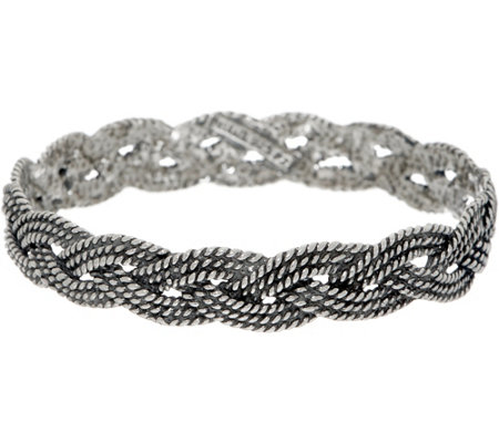 Or Paz Sterling Textured Braided Bangle 24.0g