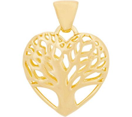 Oro Nuovo Heart Shaped Tree Of Life Pendant 14k Gold