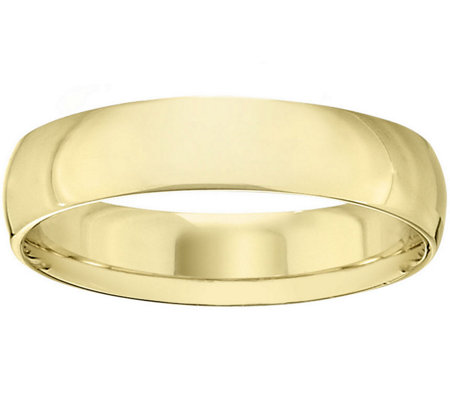Women's 14K Yellow Gold 5mm Half Round WeddingBand