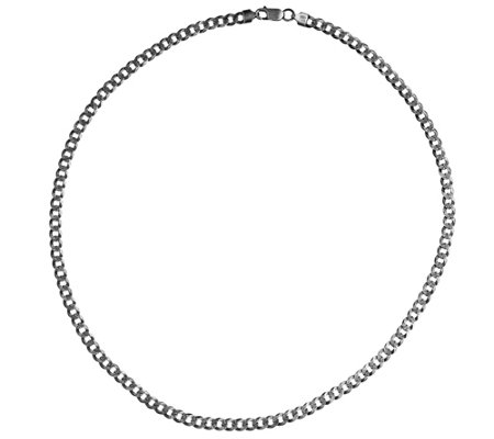 "Or Paz Men's Sterling Silver 22"" Bold Curb LinkChain, 19.0g"