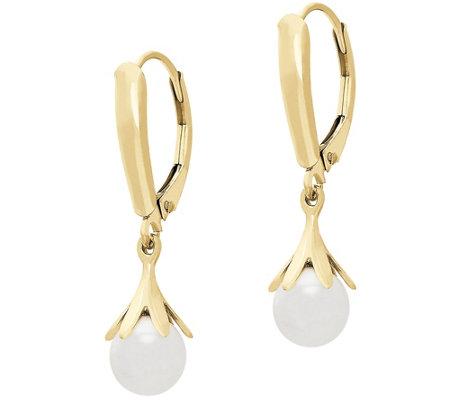 Eternagold Gemstone Petal Drop Earrings 14k Gold