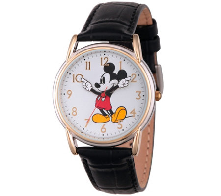 Disney Mickey Mouse Women's Two-Tone Black Watch