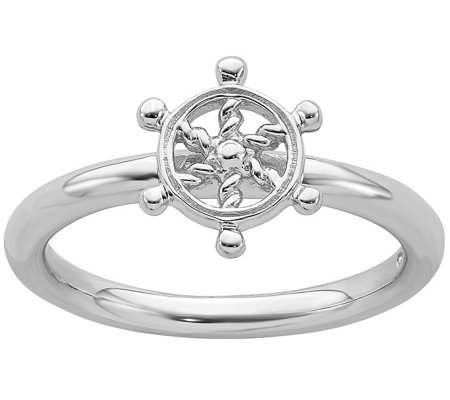Simply Stacks Sterling Ship S Wheel Ring