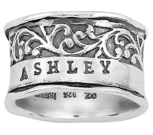 Or Paz Sterling Personalized Vine Ring